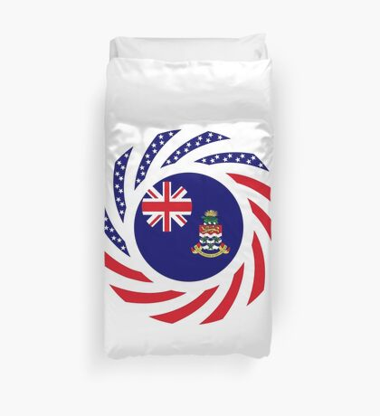 Caymanian American Multinational Patriot Flag Series Duvet Cover