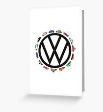 Aircooled VW - Circle of (Beetle) Life Greeting Card