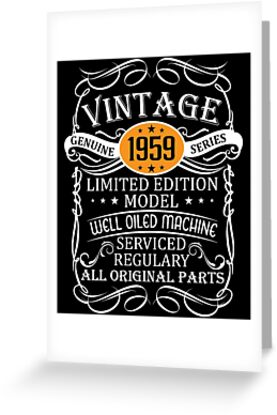 Vintage 59th Funny Birthday T Shirt 1959