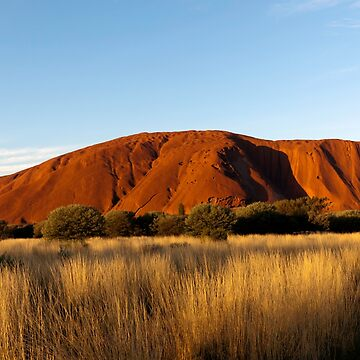 Evening view of Uluru, Uluṟu–Kata Tjuṯa National Park, Northern Territory, Australia  by JohnGaffen