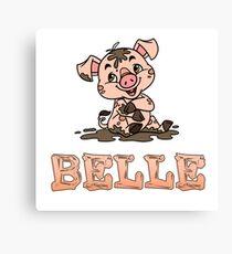 Belle Piggy Canvas Print