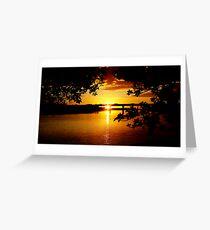 Maroochy River Sunrise, Sunshine Coast Greeting Card