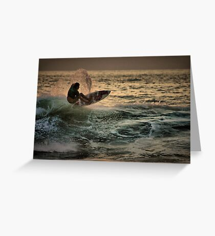Evening Surfing Greeting Card