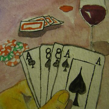Cards Wine and Cheese by Mmonarch