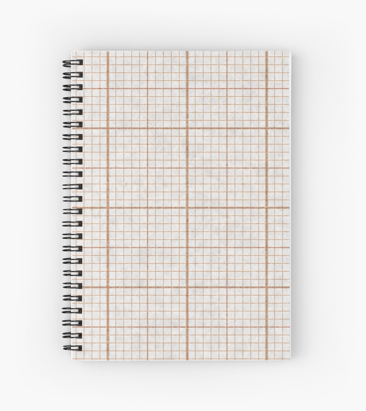 red millimeter paper spiral notebooks by alexander nedviga redbubble
