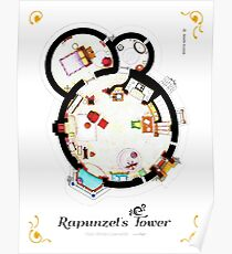 Layout of Rapunzel's Tower from TANGLED - Main Floor Poster