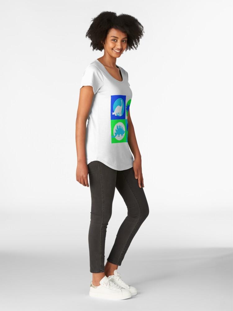 Alternative Ansicht von Dino Madness - Grün Premium Rundhals-Shirt