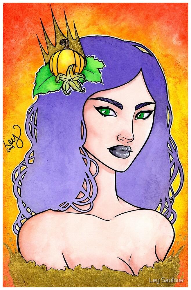 Pumpkin Queen by Ley Saulnier