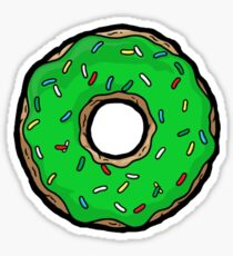 Green Donuts. Sticker