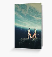 The Earth was crying and We were There Greeting Card