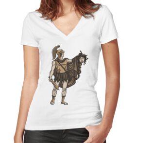 Camiseta entallada de cuello en V