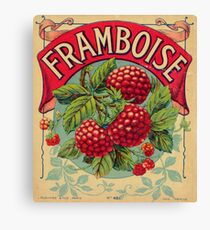 Frambroise French Vintage Fruit Label Canvas Print