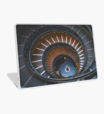 Stair, swirl, museum stair, museum, engraving,  Laptop Skin