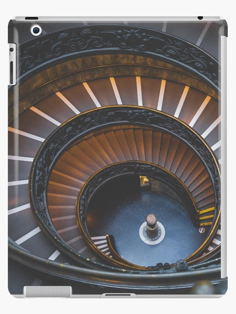 Stair, swirl, museum stair, museum, engraving,  by Kiguni