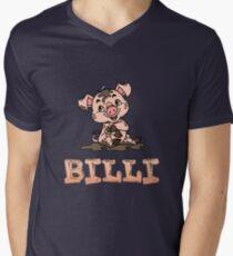 Billi Piggy Men's V-Neck T-Shirt