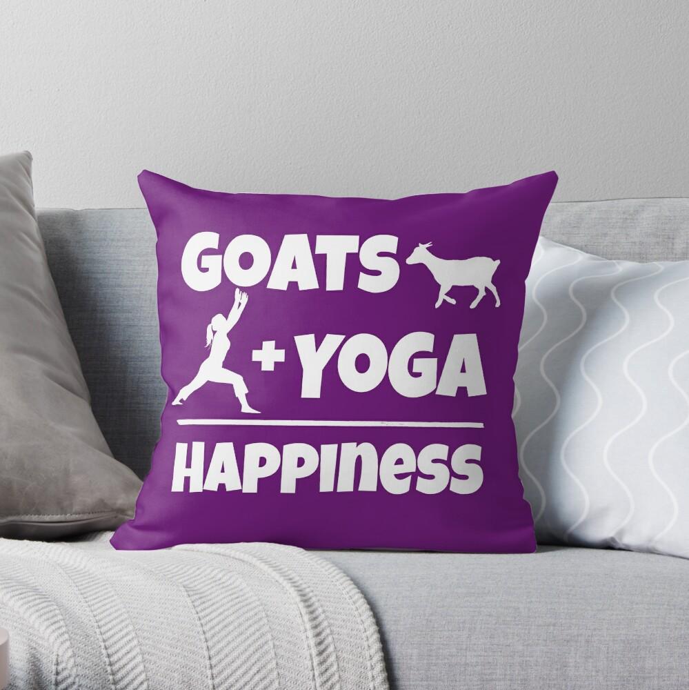 Ziegen und Yoga entspricht Glück Dekokissen