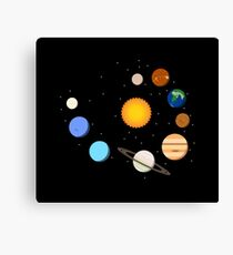 Solar System T Shirt - Awesome Gift For Space Geeks Canvas Print