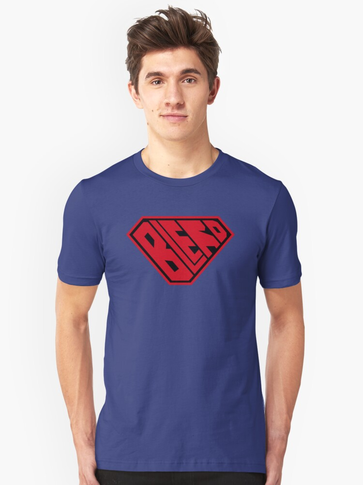 Blerd SuperEmpowered (Red and Black) Unisex T-Shirt Front