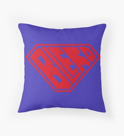 Blerd SuperEmpowered (Red) Throw Pillow