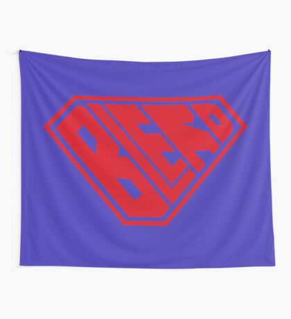 Blerd SuperEmpowered (Red) Wall Tapestry