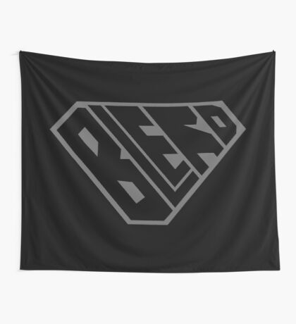 Blerd SuperEmpowered (Black on Black) Wall Tapestry