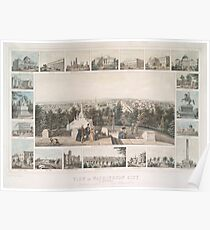 Vintage Pictorial Map of Washington DC (1849) Poster