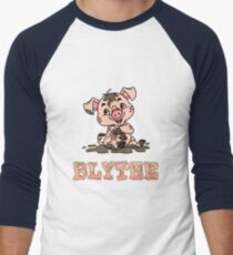 Blythe Piggy Men's Baseball ¾ T-Shirt