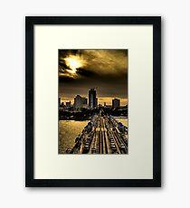 Sunset from the Pier Framed Print