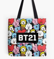 Black BT21 Phone case Tote Bag