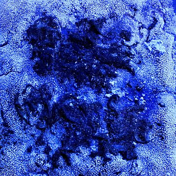 Indigo Abstract Salt Painting by ChristopherNeal