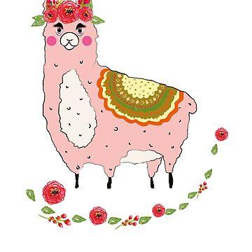 Mama Llama by amorhka