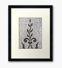 Ancient Plant Mosaic Tile Pattern Framed Print