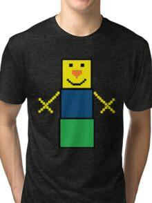 Pixel the snowman noob edition Tri-blend T-Shirt