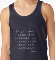 Stand Up For Something - (Dark) Tank Top