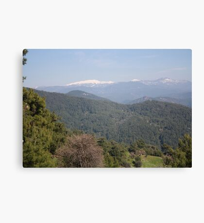 Distant Snow Topped Moutains from Cicekli Ula Canvas Print
