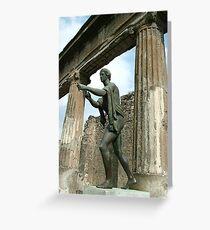 Pompeii Statue Greeting Card