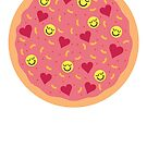 Happy Life Pizza by Jacqueline Gwynne