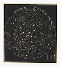 Vintage Astronomische & Himmelskarte (1850) Fotodruck