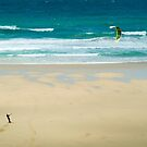 Kiteboarding in Cornwall 2 by Flo Smith
