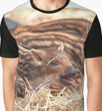 Wild Boar Piglets Graphic T-Shirt