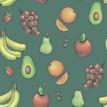 Tiled Fruit (Muted Palette) by tarale