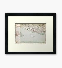 Vintage Map of Mobile AL (1763) Framed Print