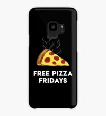 Free Pizza Fridays (White Text) Case/Skin for Samsung Galaxy