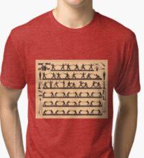 Vintage Fencing Swordsmanship Diagram (1907) Tri-blend T-Shirt