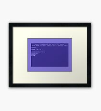 Commodore 64 Boot Screen - Load a Disk Framed Print