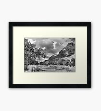 Zion Canyon Afternoon Framed Print