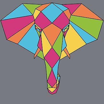 Elephant Mosaic by FairyTees