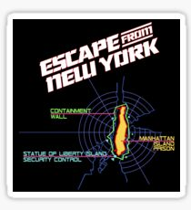 ESCAPE FROM NEW YORK - CITY MAP Sticker