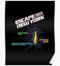 ESCAPE FROM NEW YORK - CITY MAP Poster