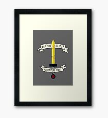 Adventure Time sword design Framed Print